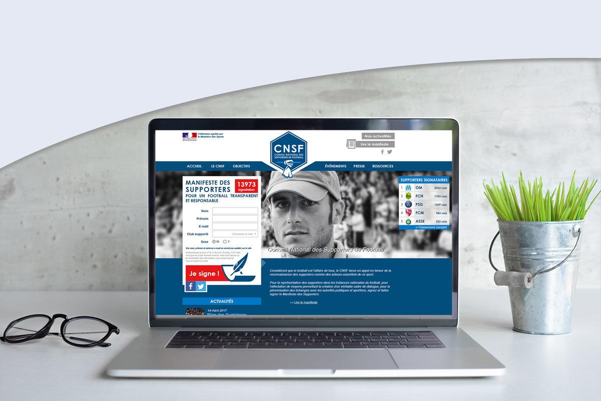 Site événementiel pour Conseil National des Supporters de Football (CNSF)