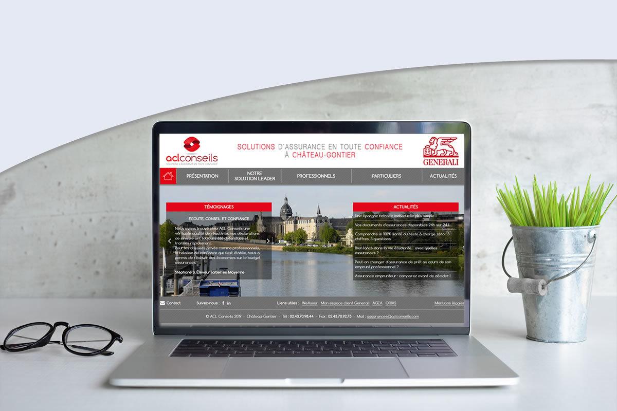 Site vitrine pour ACL Conseils