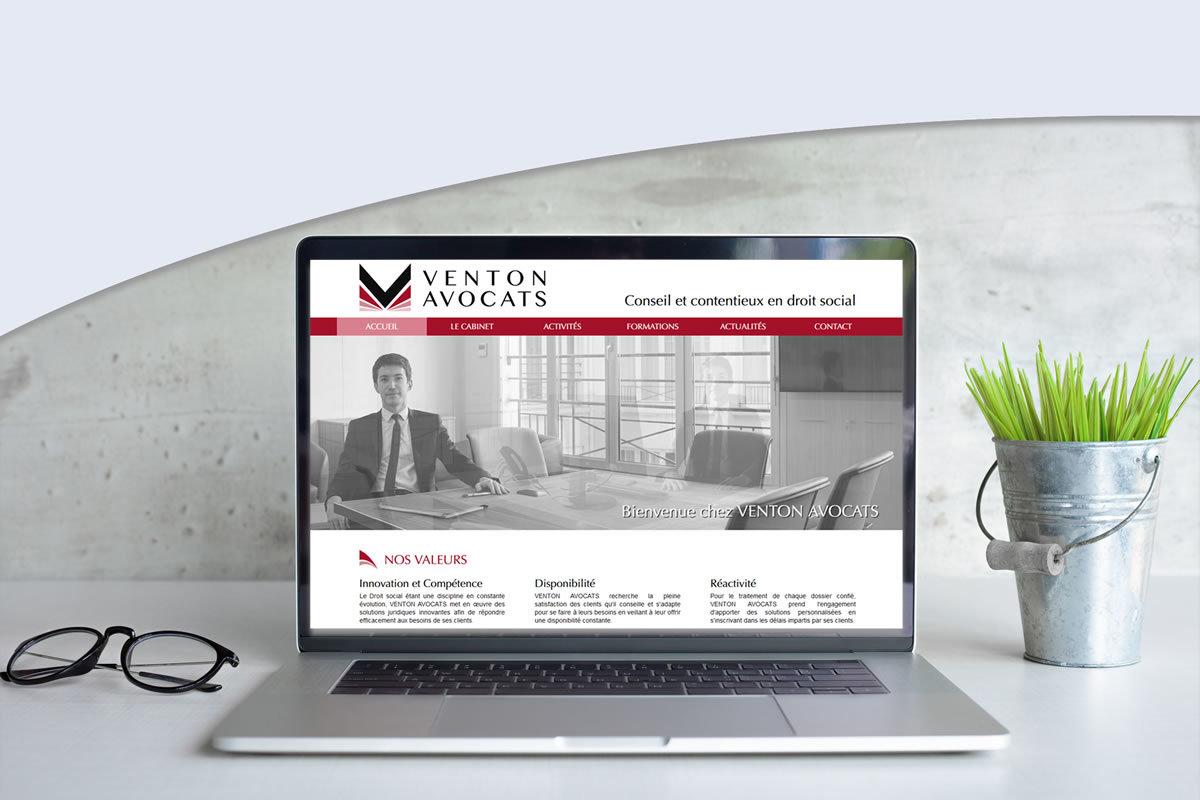 Site vitrine pour Venton Avocats