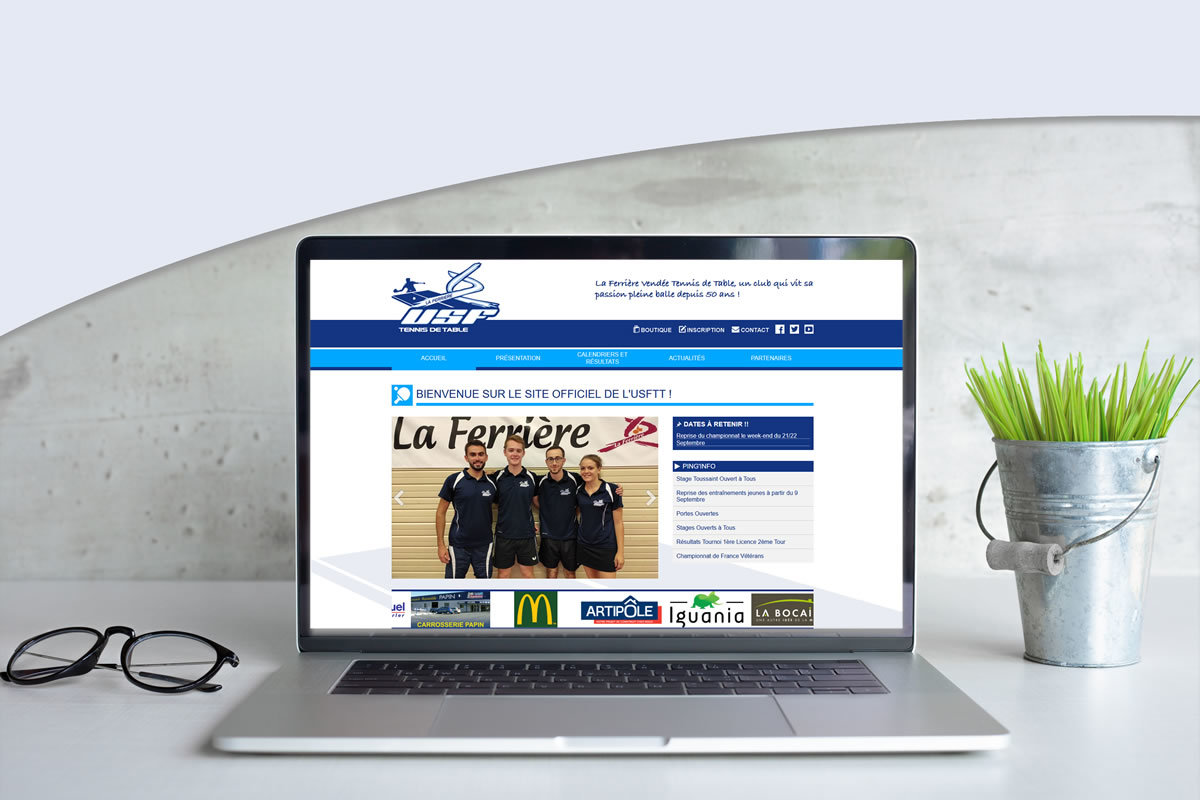 Site événementiel pour USF Tennis de table