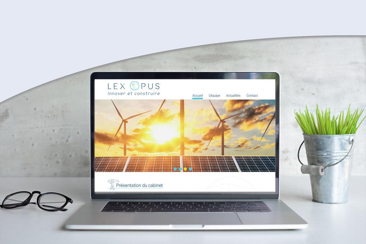 Site vitrine pour Lex'Opus