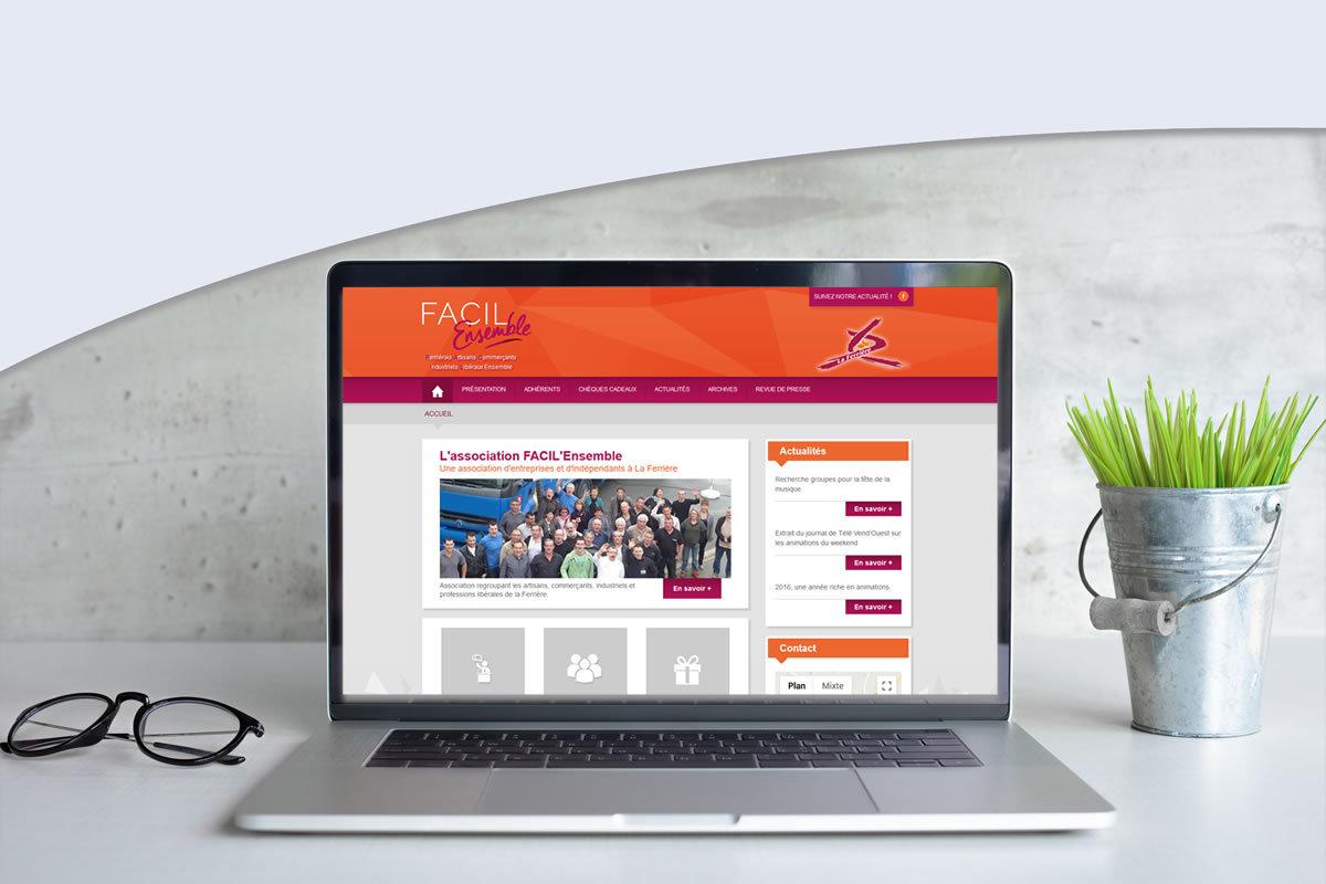 Site événementiel pour FACIL'Ensemble