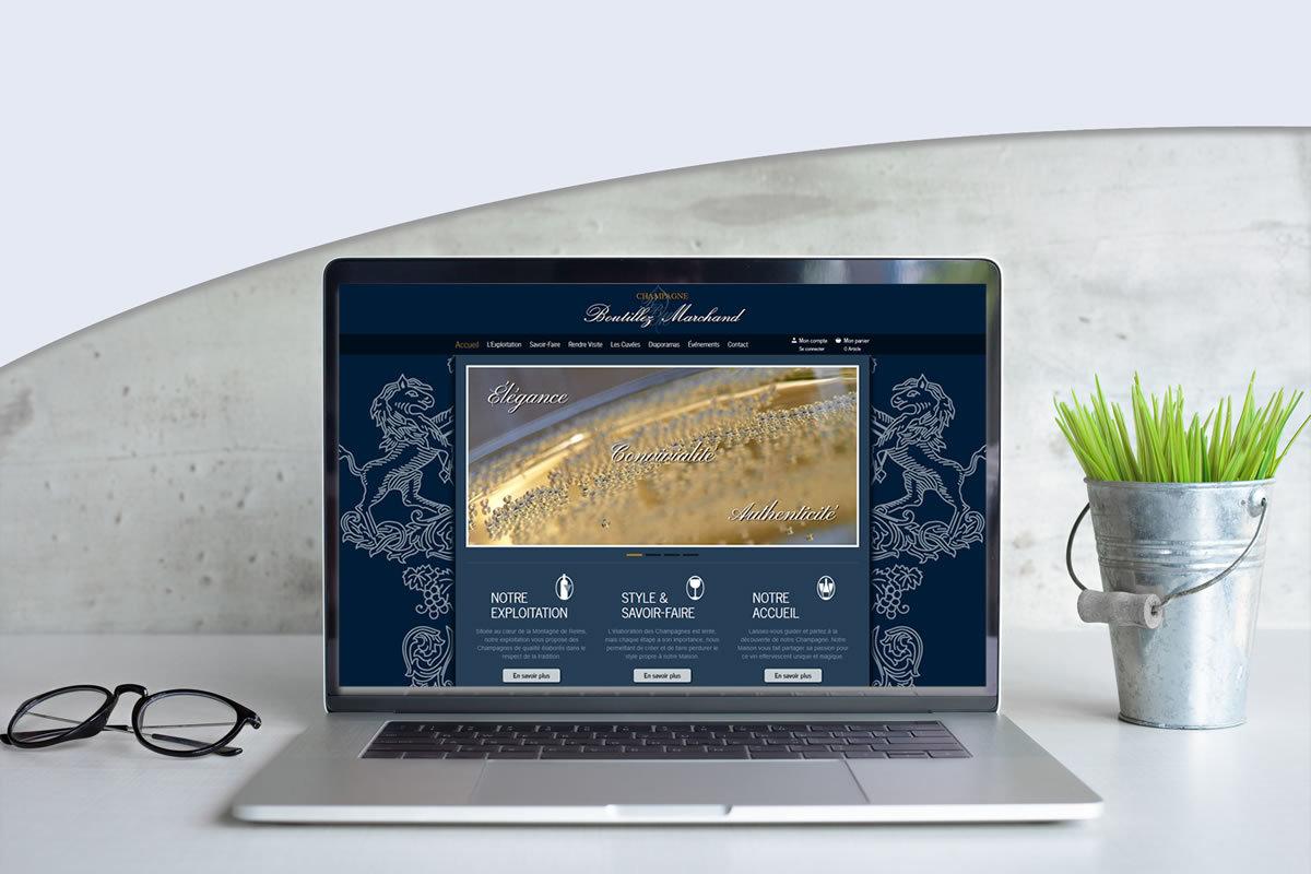 Site e-commerce pour Champagne Boutillez Marchand