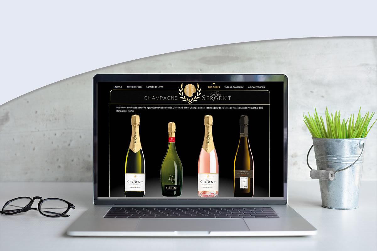 Site catalogue pour Champagne Roger Sergent