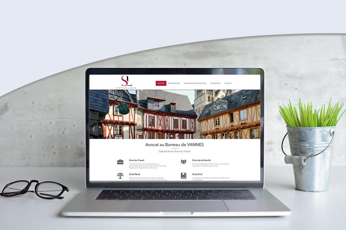 Site vitrine pour Stéphanie LARCHÉ Avocate